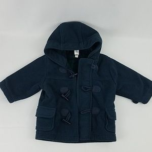 Baby Gap Navy Fleece Jacket with Toggle Buttons